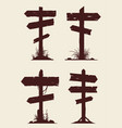 wooden billboard banners or directional guidepost vector image vector image