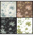 Set seamless floral pattern vector image