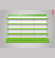100 shelves long vector image vector image