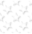 Abstract white 3d seamless background with vector image vector image