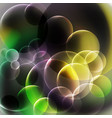 abstract yellow and black bubbles background vector image
