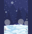 background winter night vector image
