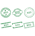 Bio stamps vector image vector image
