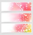 bright shimmering seasonal web header set vector image vector image