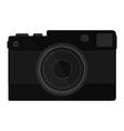 camera on white background vector image