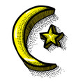 cartoon image of islam symbol vector image vector image