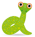 Cartoon of a snake on a white background vector image vector image