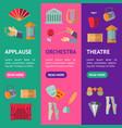 cartoon theatre acting performance banner vector image vector image