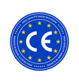 ce marking label or european conformity vector image vector image