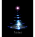 christmas glowing tree vector image vector image