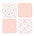 Collection of coasters templates for food design vector image vector image