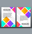 cover design templates with bright gradients vector image