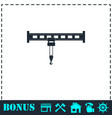 crane icon flat vector image vector image