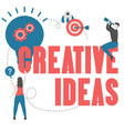 creative idea concept with light bulb vector image