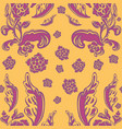 delicate flower seamless pattern vector image vector image