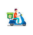 delivery man on way to client vector image vector image