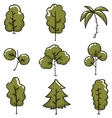 Doodle of tree simple collection vector image vector image