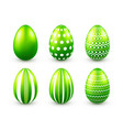 easter eggs green set spring holidays in april vector image vector image