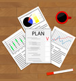 economic planning checklist vector image vector image