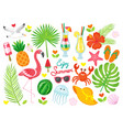 enjoy summer poster items set vector image