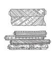 fabric rolls vector image