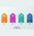 four numbered tags with thin line icons and text vector image