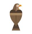 golden eagle bird geometric icon in flat vector image vector image
