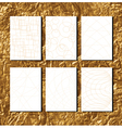 golden pattern for business paper vector image vector image