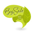 green eco tag with inscription big sale vector image vector image