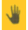 hand icon vector image vector image