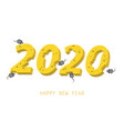 happy new year with inscription 2020 to new vector image vector image