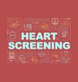 heart screening word concepts banner vector image vector image