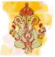 hindu lord ganesha ornate sketch drawing on vector image vector image