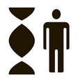 human and molecule dna icon vector image vector image