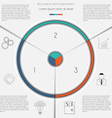 Infographic template on 3 positions vector image vector image