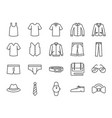 men clothes icon set vector image