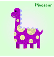 Monster for children funny happy dinosaur drawing vector image