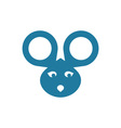 mouse-head vector image vector image