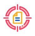 new goal-new contract icon outline vector image vector image