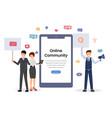 online community mobile app concept vector image