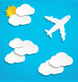 paper planes flying in sky vector image vector image