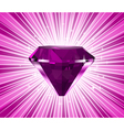 pink diamond vector image vector image