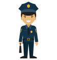 police officer icon isolated on white vector image vector image