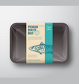 premium quality mackerel pack abstract vector image