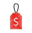 price commercial tag isolated icon vector image