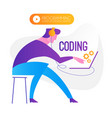 programming coding programmer at work vector image