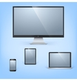 realistic laptop tablet computer monitor vector image