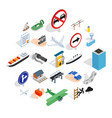 rent a vehicle icons set isometric style vector image vector image