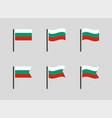 republic bulgaria flag symbols set national vector image