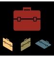 Riefcase icon set vector image